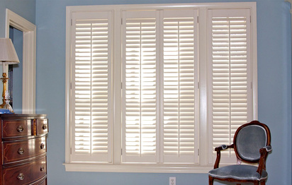Triple Window Plantation Shutters